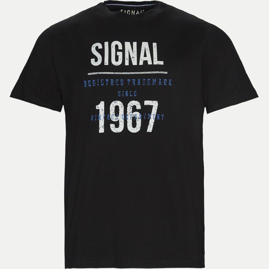 SHANE - Logo T-shirt - T-shirts - Regular - SORT - 1
