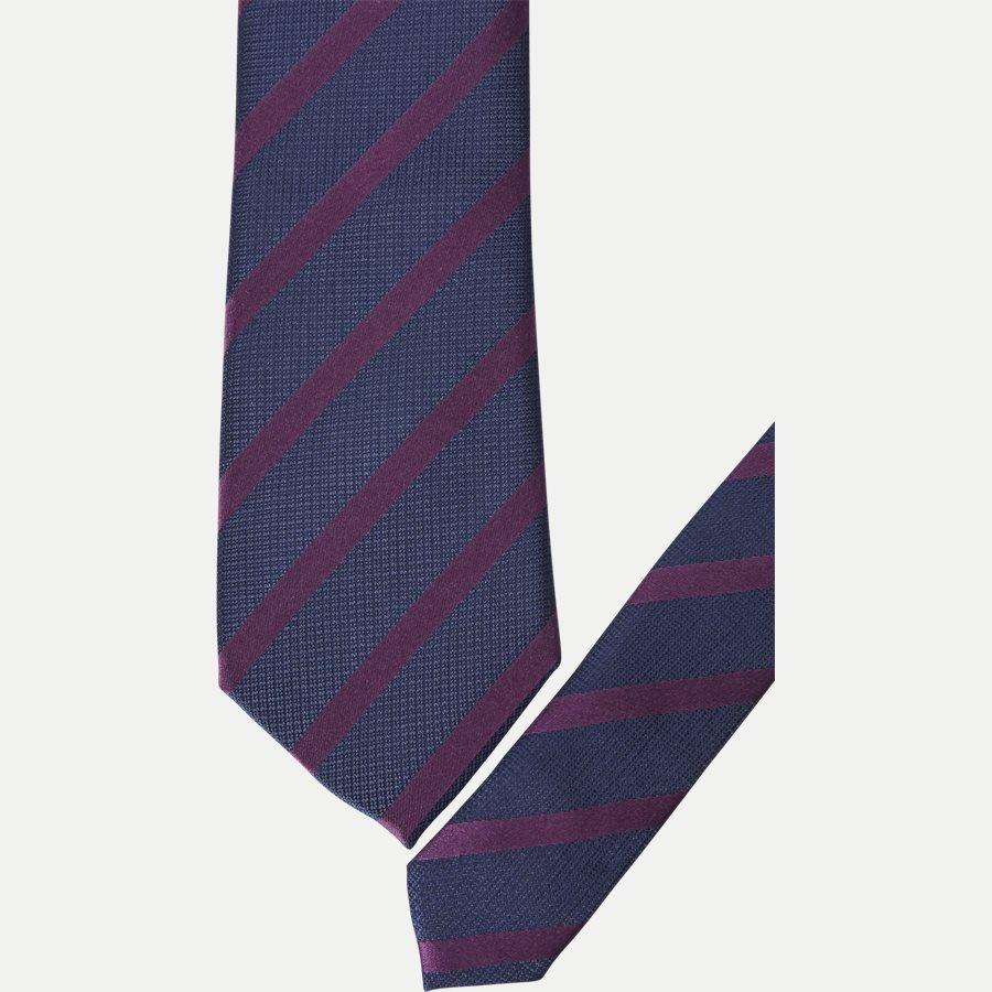 P1119 - Krawatten - NAVY/BRUN - 2