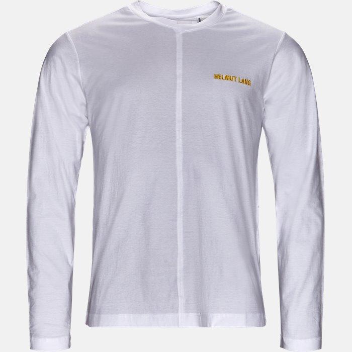 Langærmede T-shirts - Oversize fit - Hvid