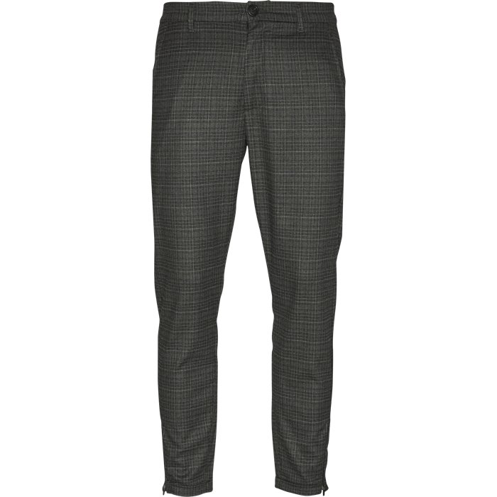 Pisa Grey Check - Bukser - Regular - Grå