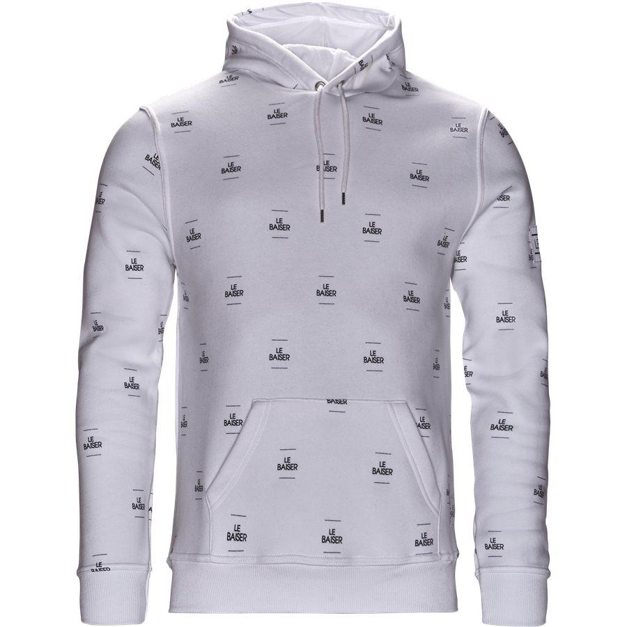 MONACO - Monaco Sweatshirt - Sweatshirts - Regular - WHITE/BLACK - 1