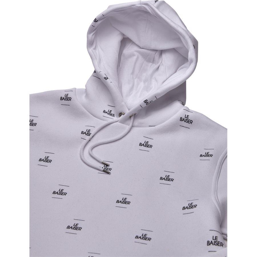 MONACO - Monaco Sweatshirt - Sweatshirts - Regular - WHITE/BLACK - 3