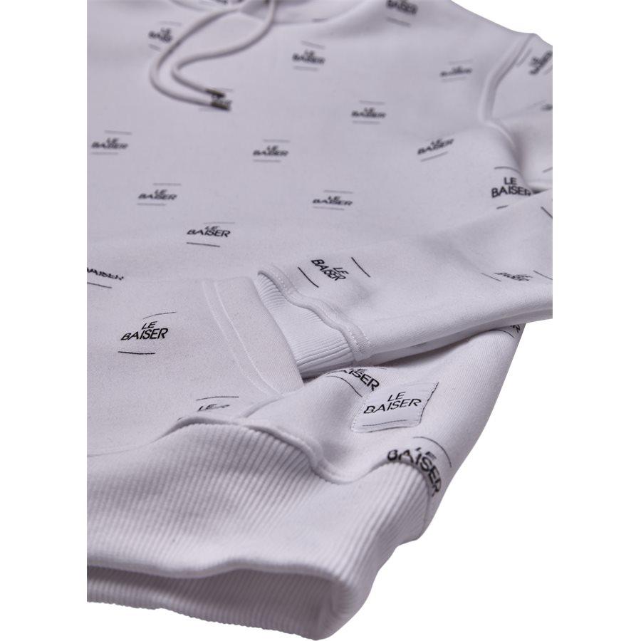 MONACO - Monaco Sweatshirt - Sweatshirts - Regular - WHITE/BLACK - 4