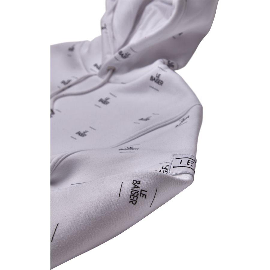 MONACO - Monaco Sweatshirt - Sweatshirts - Regular - WHITE/BLACK - 5
