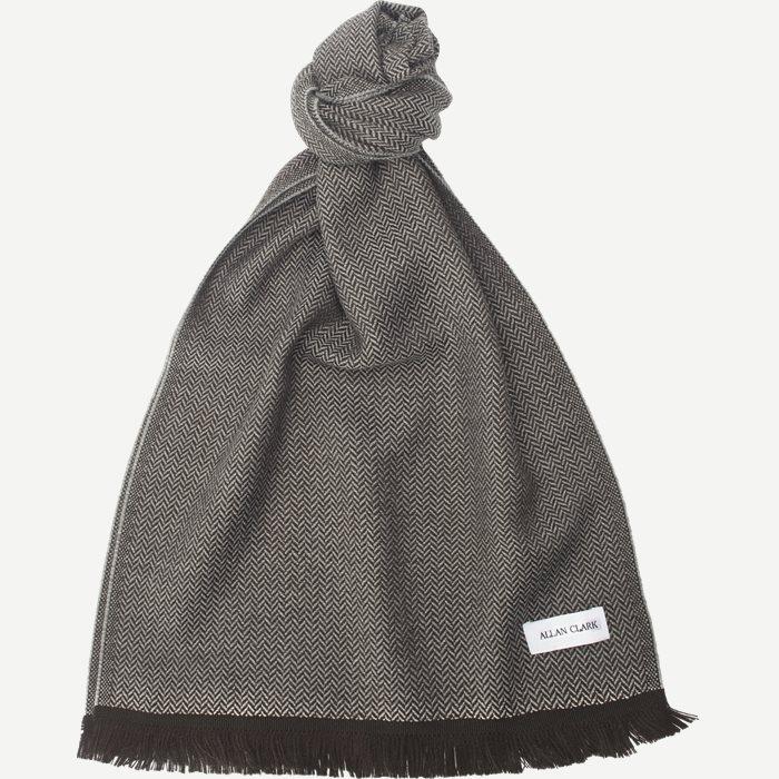 Wool Cashmere Blend Scarf - Tørklæder - Grå