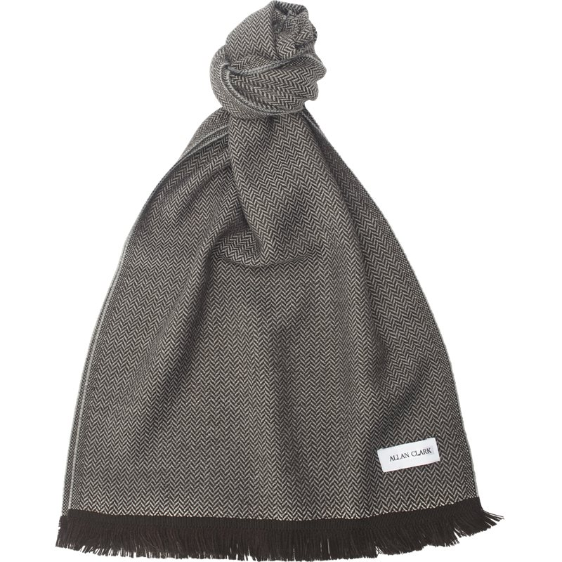 allan clark Allan clark - wool cashmere blend scarf fra kaufmann.dk