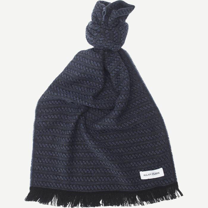 Wool Blend Scarf - Tørklæder - Blå