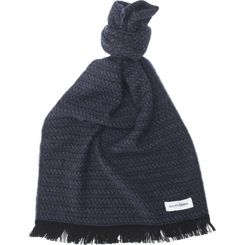 Allan clark - wool blend scarf fra allan clark på kaufmann.dk