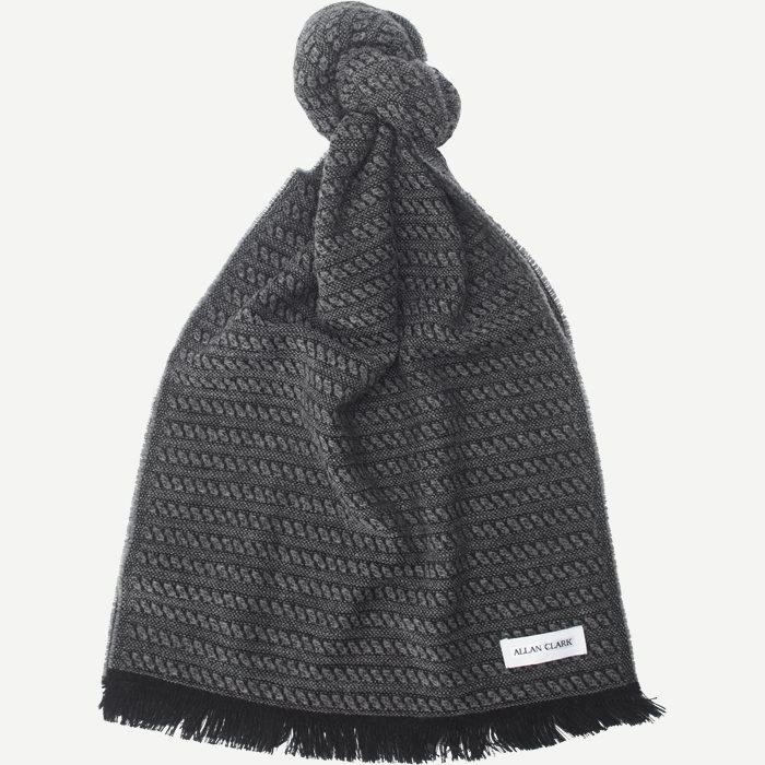 Wool Blend Scarf - Tørklæder - Grå