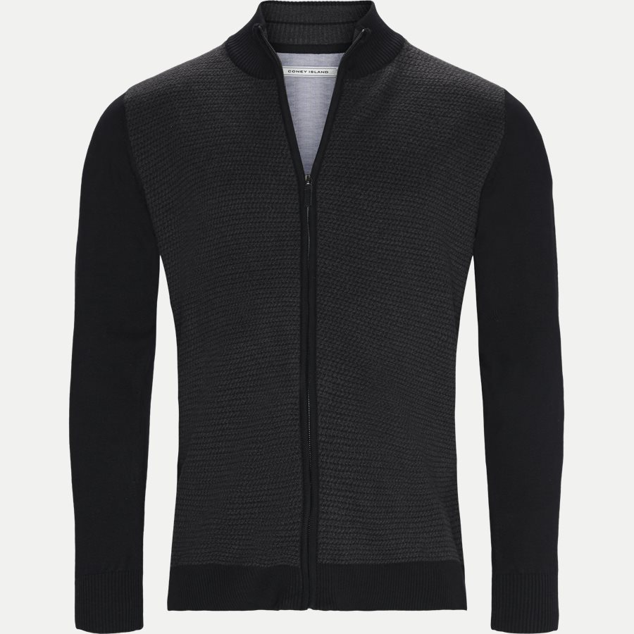 VENTOUX - Ventoux Cardigan Strik - Strik - Regular - BLACK - 1