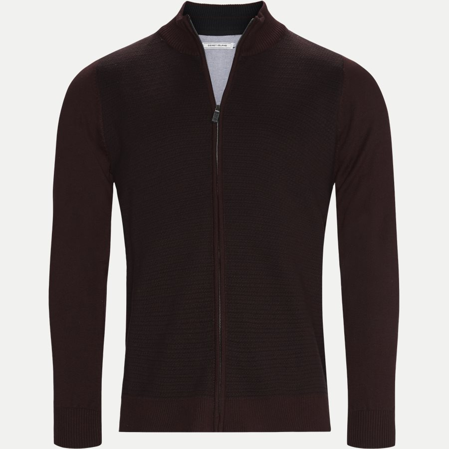 VENTOUX - Ventoux Cardigan Strik - Strik - Regular - BORDEAUX - 1