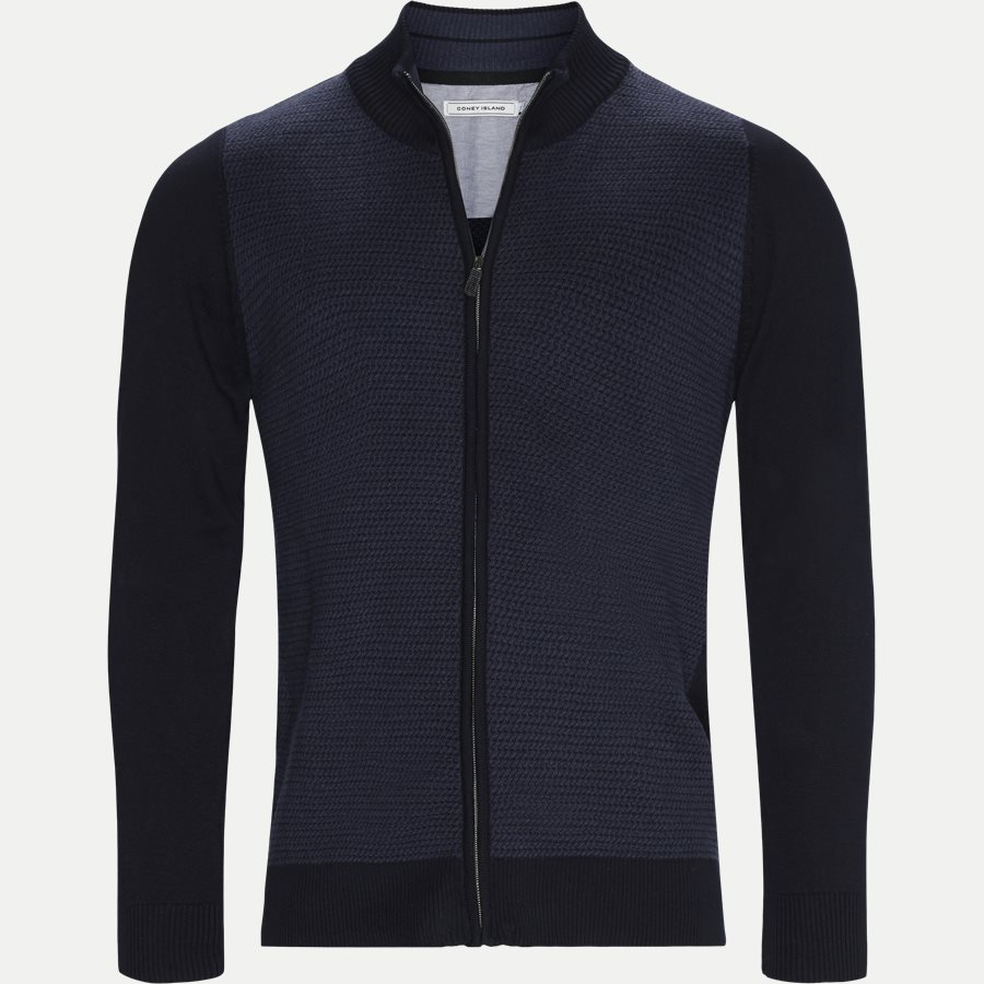 VENTOUX - Ventoux Cardigan Strik - Strik - Regular - NAVY - 1