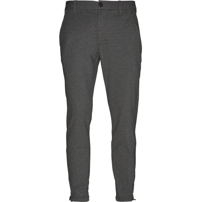 Pisa Jersey Bukser - Bukser - Regular - Grå