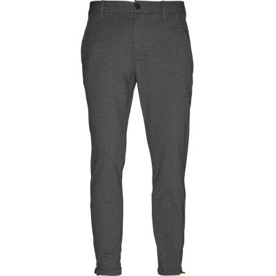 Pisa Jersey Bukser Tapered fit | Pisa Jersey Bukser | Grå