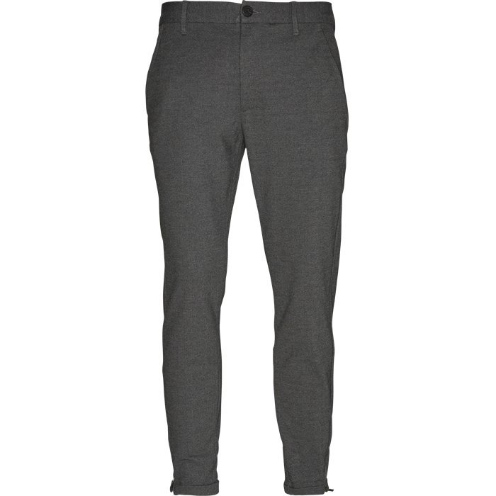 Byxor - Tapered fit - Grå