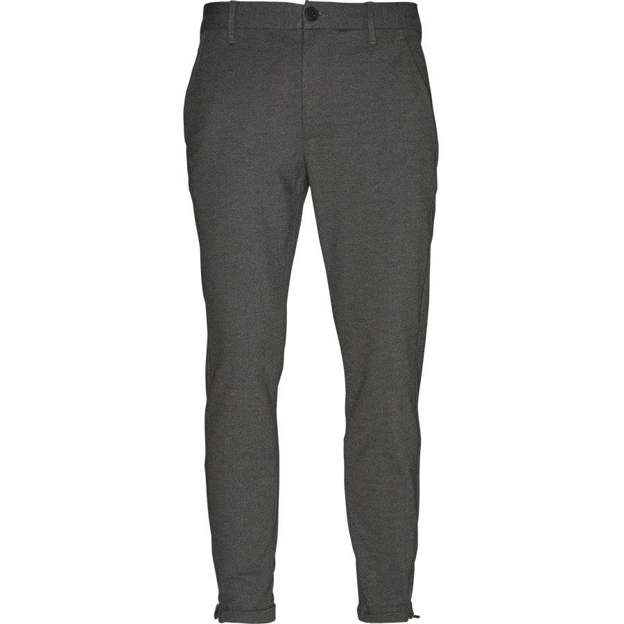 PISA JERSEY V2 - Pisa Jersey Bukser - Bukser - Regular - GRÅ - 1
