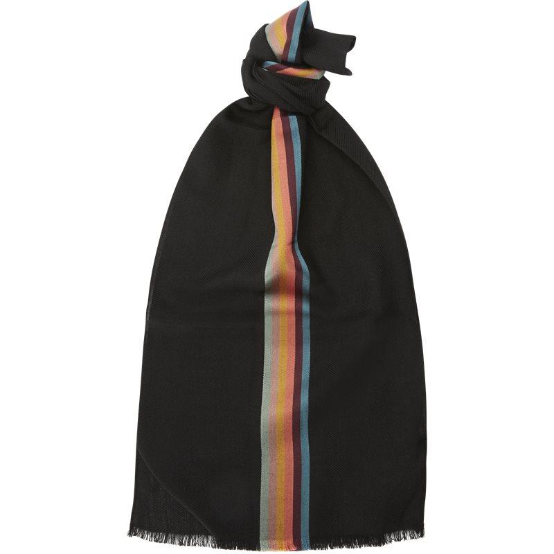 paul smith accessories – Paul smith accessories 454d as22 tørklæder black fra Edgy