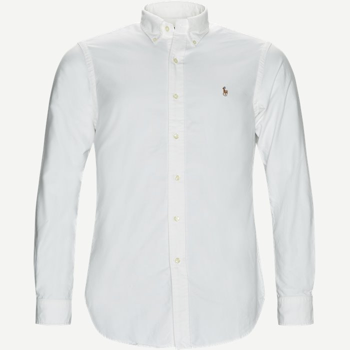 Button-Down Oxford Skjorte - Skjorter - Hvid