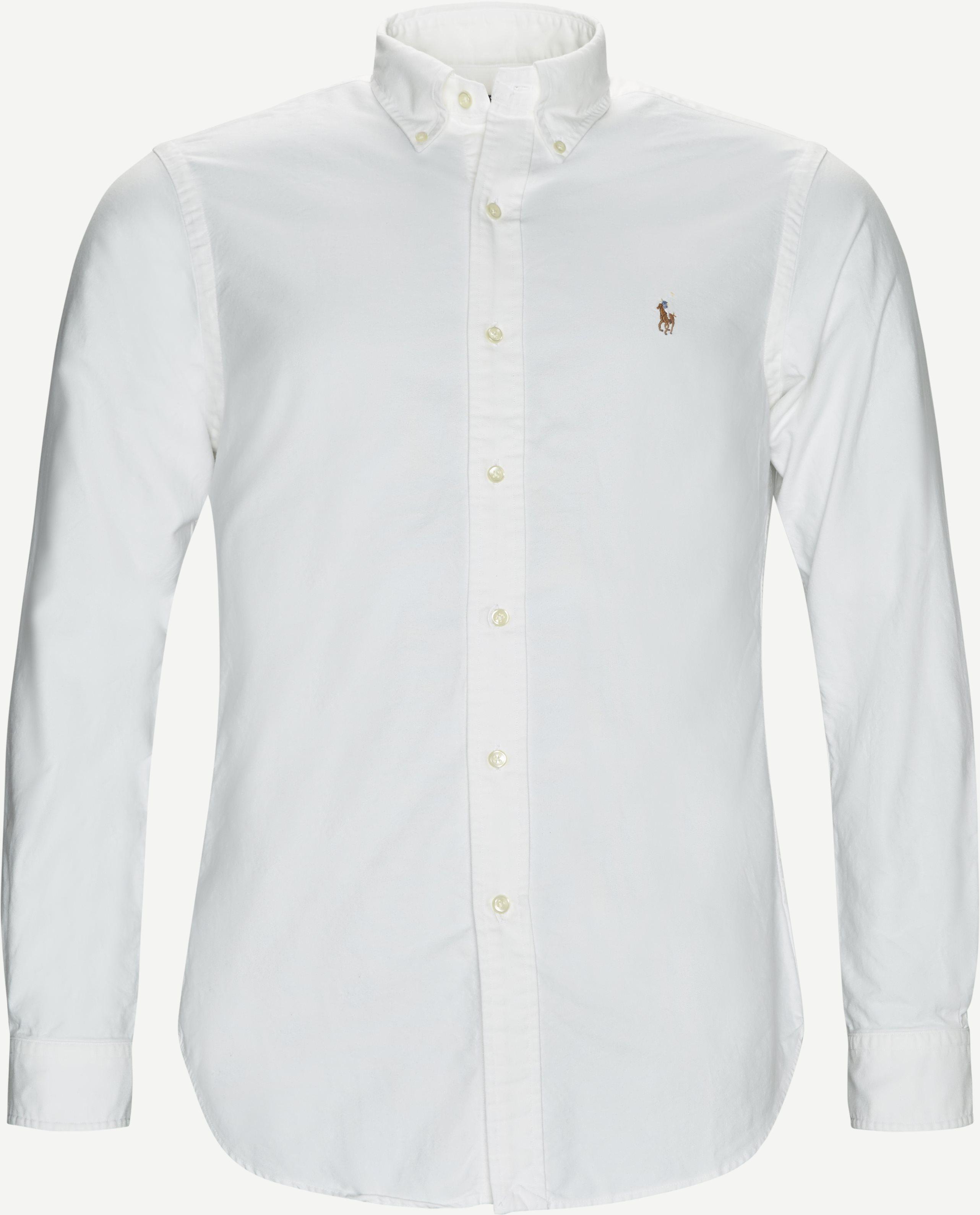 Button-Down Oxford Skjorte - Skjorter - Hvid