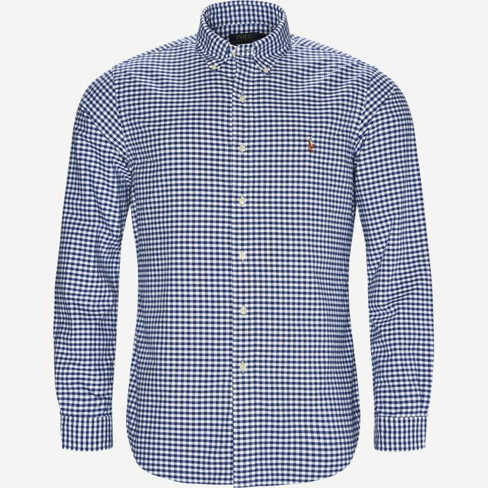 Button-down Oxford Skjorte - Skjorter - Blå