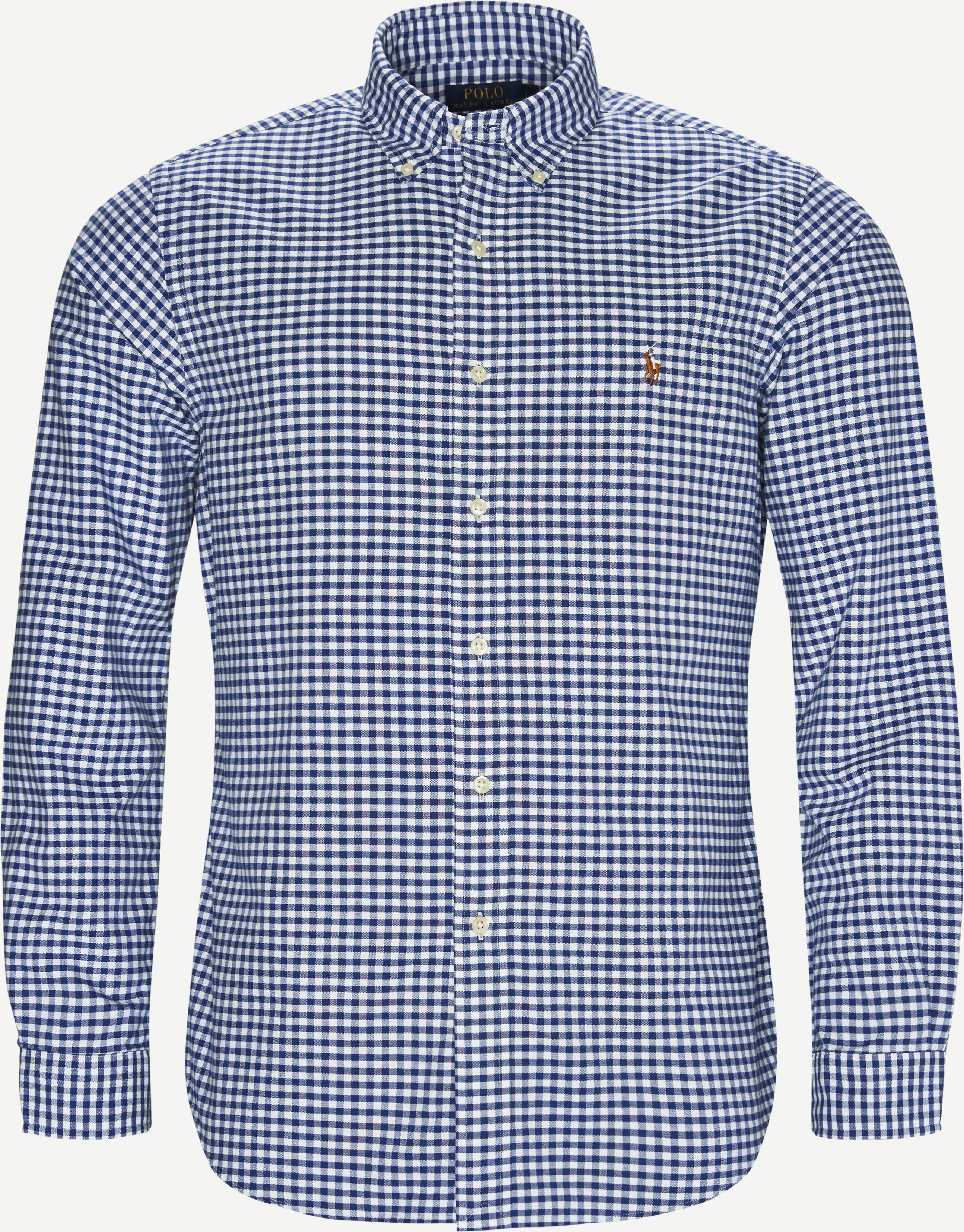 Button-down Oxford Skjorte - Skjorter - Blå