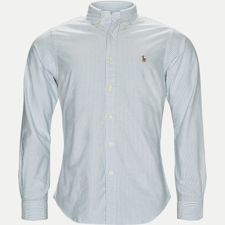 710549084009/710548535006 - Button-down Oxford Skjorte - Skjorter - BLÅ/HVID - 1
