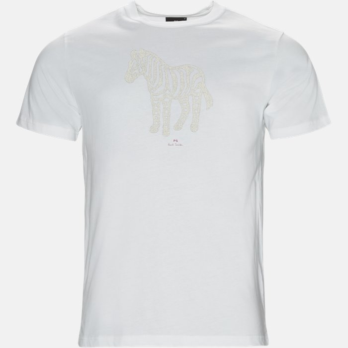 T-shirt - T-shirts - Slim - Hvid
