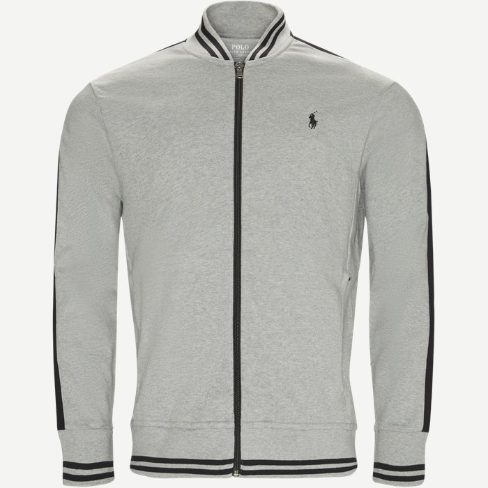 Jersey Track Jacket - Sweatshirts - Regular - Grå
