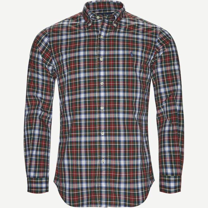 Sport Shirt - Skjorter - Slim - Bordeaux