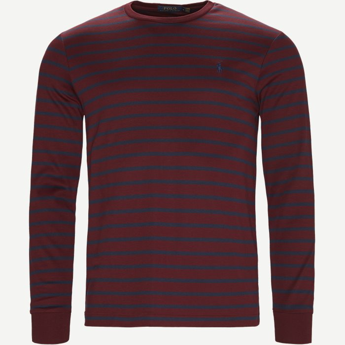 Classic Long Sleeve Tee - T-shirts - Regular - Bordeaux