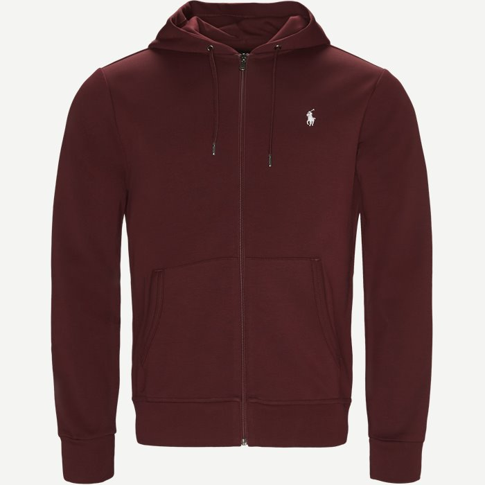 Hooded Zippered Jacket - Sweatshirts - Regular - Bordeaux