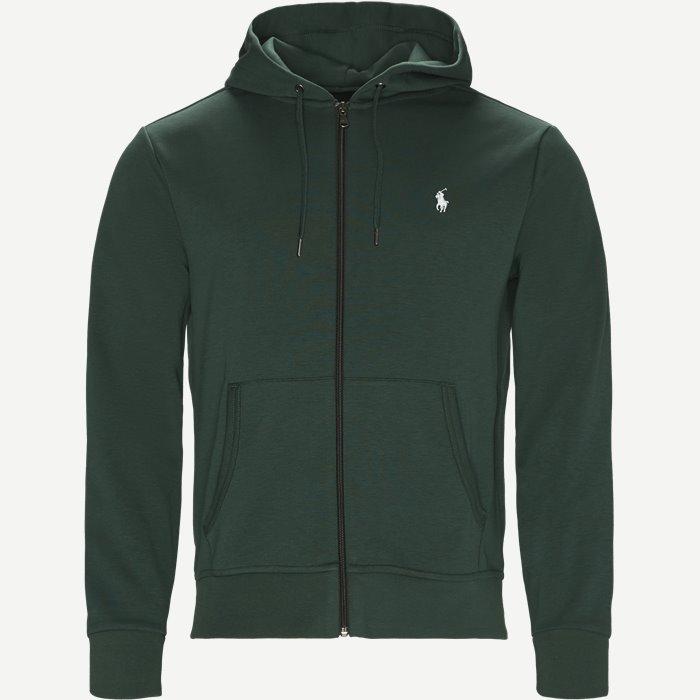 Hooded Zippered Jacket - Sweatshirts - Regular - Grøn