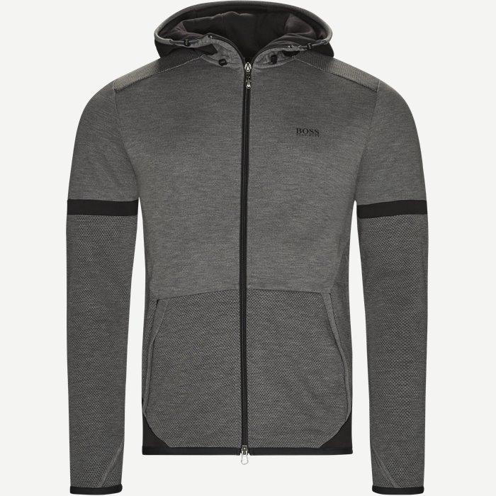 Selnio Hætte Sweatshirt - Sweatshirts - Slim - Grå