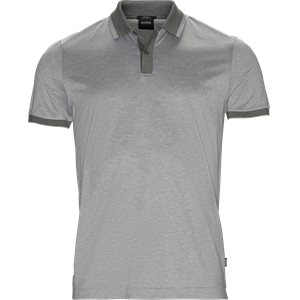 Philpsons Mercerised Polo T-shirt Slim | Philpsons Mercerised Polo T-shirt | Grå