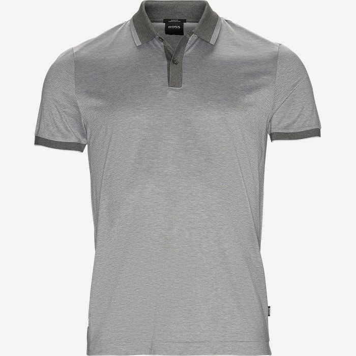 Philpsons Mercerised Polo T-shirt - T-shirts - Slim - Grå