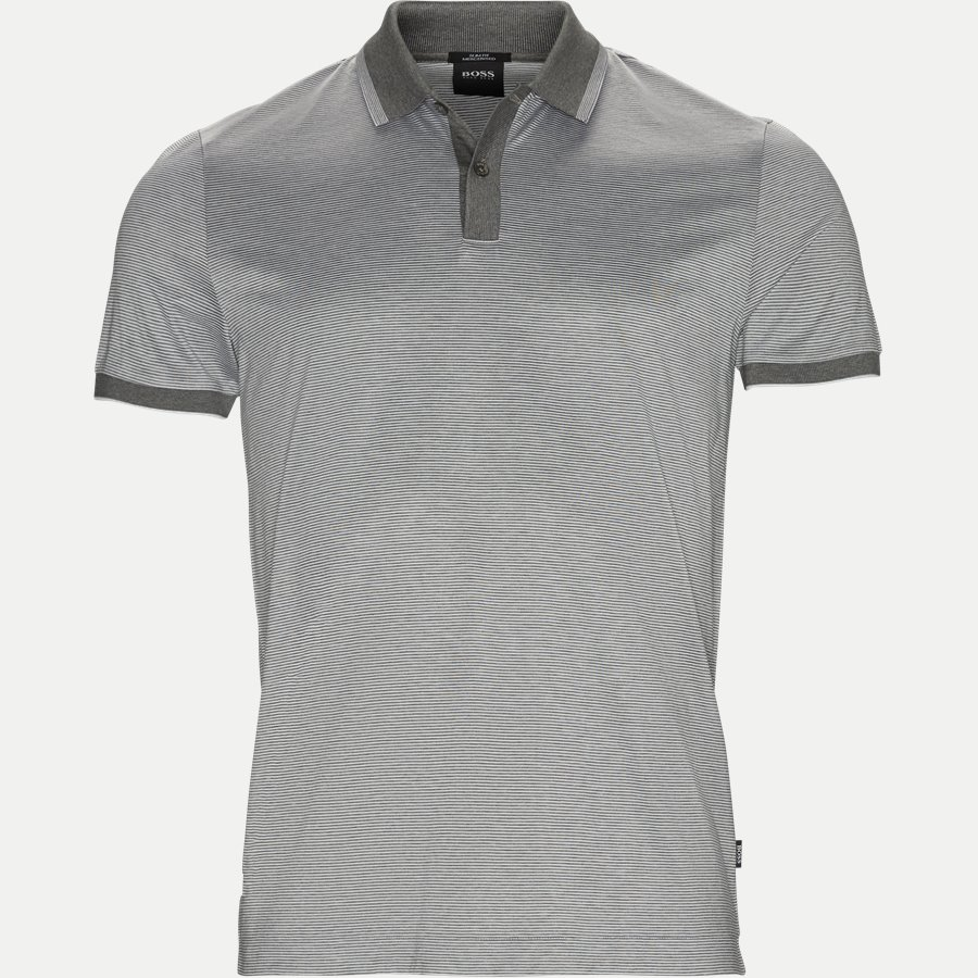 50387546 PHILPSONS - Philpsons Mercerised Polo T-shirt - T-shirts - Slim - GRÅ - 1