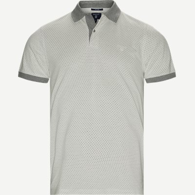 Jacquard Rugger Polo Regular | Jacquard Rugger Polo | Hvid