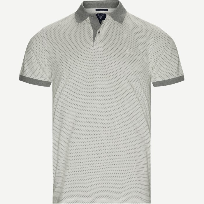 Jacquard Rugger Polo - T-shirts - Regular - Hvid
