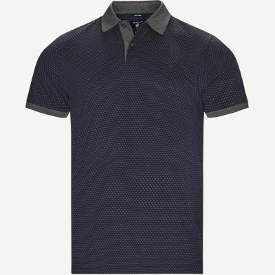 Jacquard Rugger Polo Regular | Jacquard Rugger Polo | Blå
