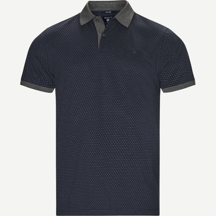 Jacquard Rugger Polo - T-shirts - Regular - Blå