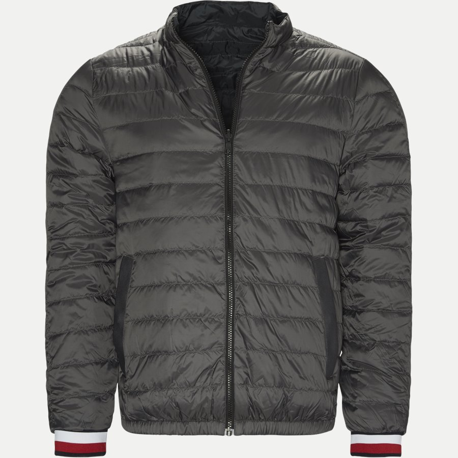 REVERSIBLE NYLON DOWN JACKET 6927 - Vendbar Nylon Dunjakke - Jakker - Regular - GRÅ - 1