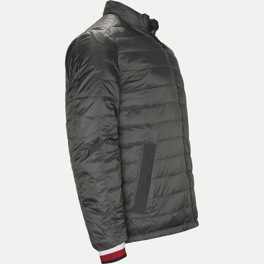 REVERSIBLE NYLON DOWN JACKET 6927 - Vendbar Nylon Dunjakke - Jakker - Regular - GRÅ - 4