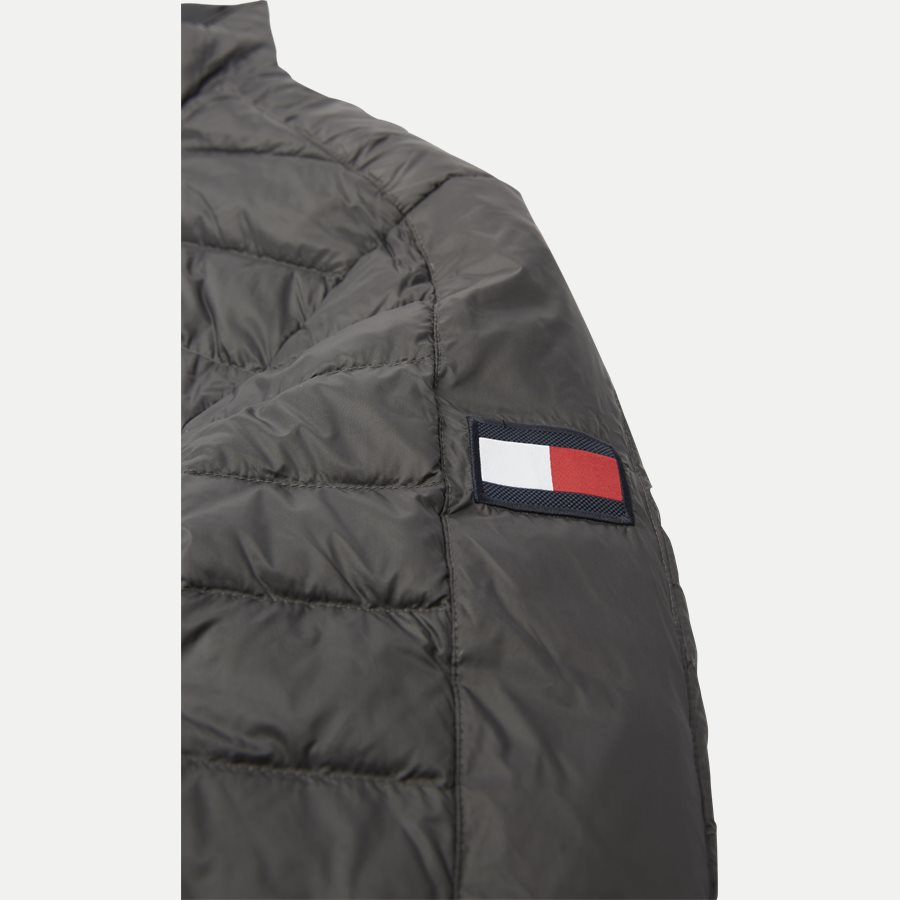 REVERSIBLE NYLON DOWN JACKET 6927 - Vendbar Nylon Dunjakke - Jakker - Regular - GRÅ - 6