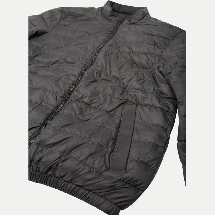 REVERSIBLE NYLON DOWN JACKET 6927 - Vendbar Nylon Dunjakke - Jakker - Regular - GRÅ - 7