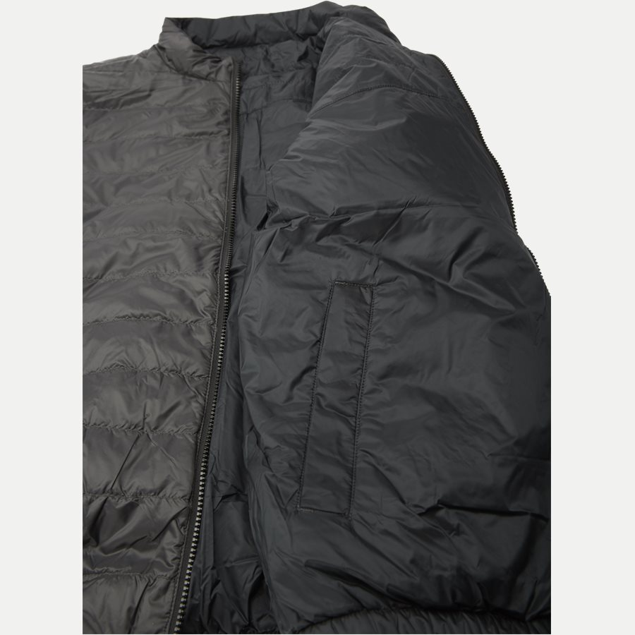REVERSIBLE NYLON DOWN JACKET 6927 - Vendbar Nylon Dunjakke - Jakker - Regular - GRÅ - 9