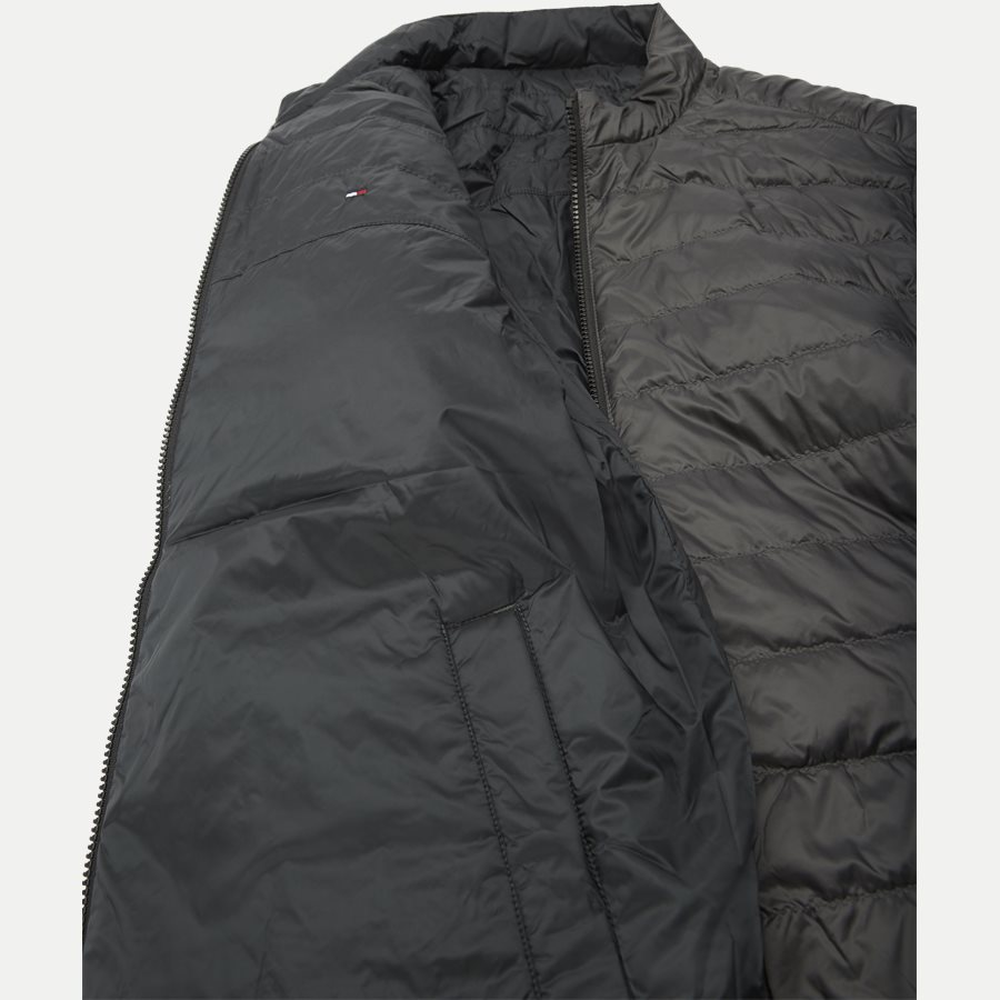 REVERSIBLE NYLON DOWN JACKET 6927 - Vendbar Nylon Dunjakke - Jakker - Regular - GRÅ - 10