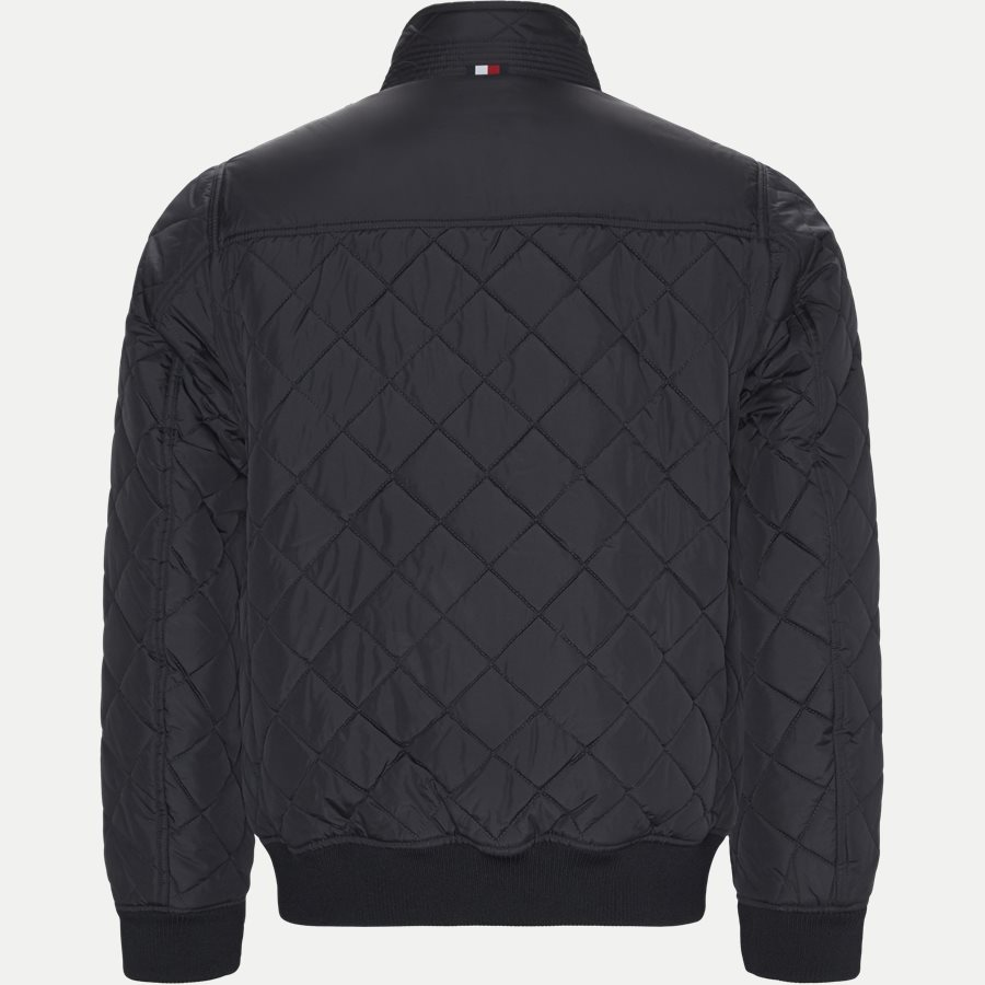 STRIPED RIB QUILTED BOMBER 7697 - Striped Rib Quilted Bomber - Jakker - Regular - NAVY - 2