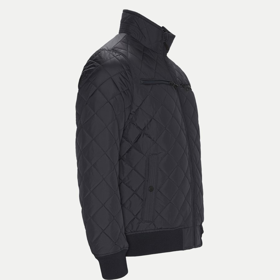 STRIPED RIB QUILTED BOMBER 7697 - Striped Rib Quilted Bomber - Jakker - Regular - NAVY - 3