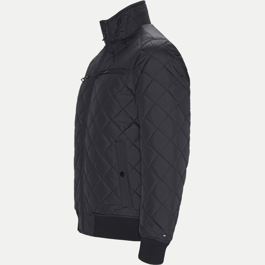 STRIPED RIB QUILTED BOMBER 7697 - Striped Rib Quilted Bomber - Jakker - Regular - NAVY - 4