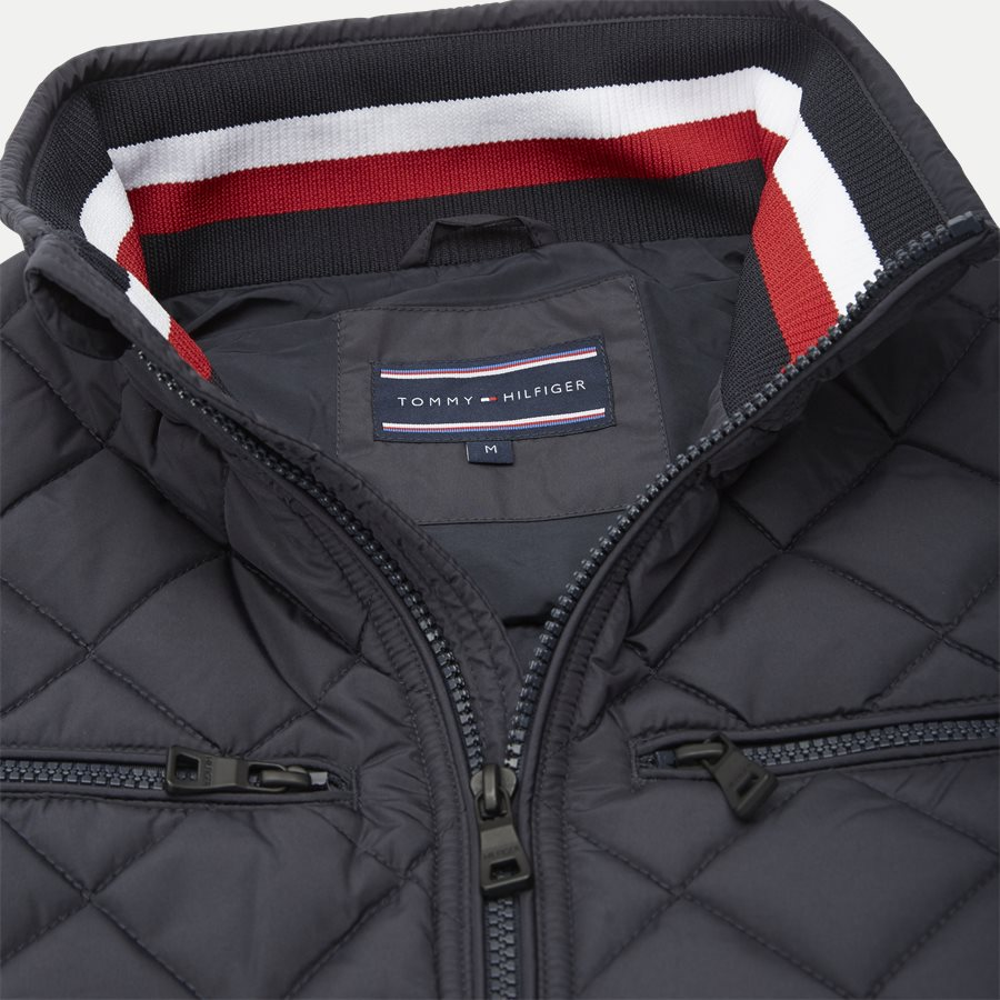 STRIPED RIB QUILTED BOMBER 7697 - Striped Rib Quilted Bomber - Jakker - Regular - NAVY - 5